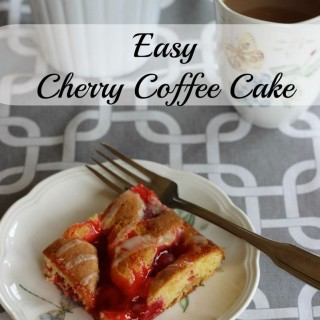 Cherry coffee cake. Quick and easy to make. Tastes fabulous!