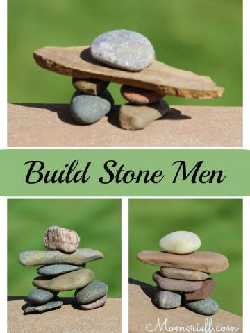 Build these stone men as a fun relaxing activity. Also a great activity for the kids. Also known as an Inuksuk. Larger ones are a creative DIY idea for your landscaping..