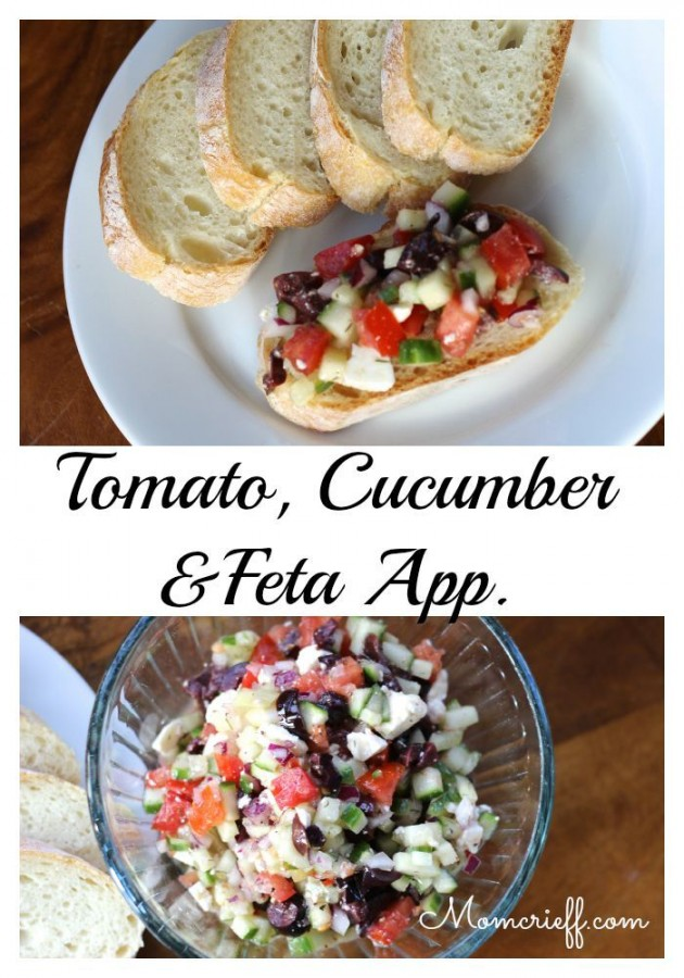 Tomato and Cucumber & Feta Appetizer. A healthy appetizer that has amazing flavor. The bonus, it's quick and easy to make!