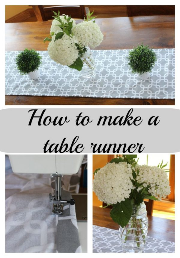How to sew a simple table runner. It's easy, doesn't take much time and you can make a custom size to fit your table.