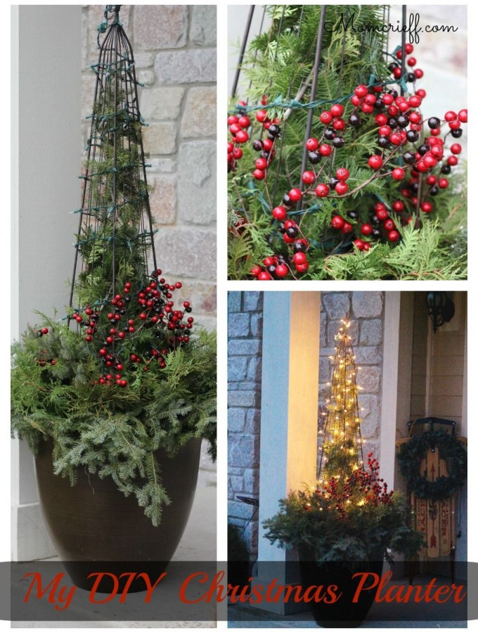 Easy DIY Christmas Planter.