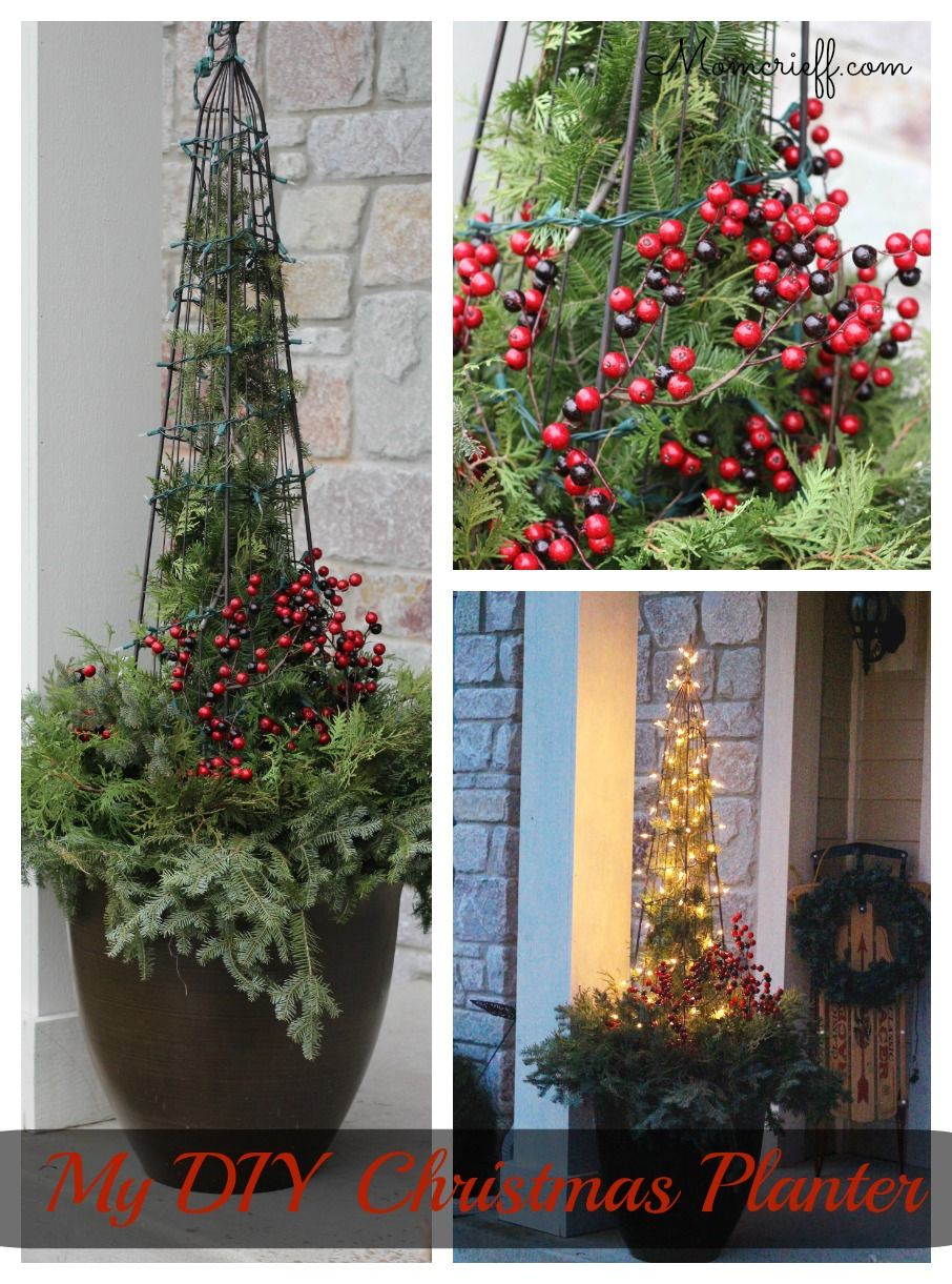 Easy DIY Christmas planter