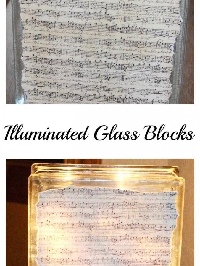 Illuminated glass block – brighten dark corners!