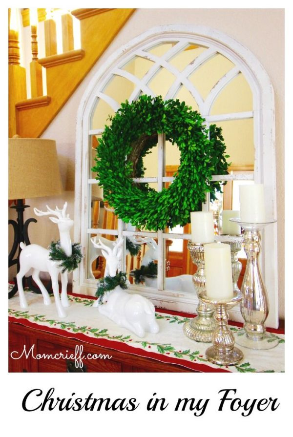 Come in!  Enjoy my Christmas Foyer