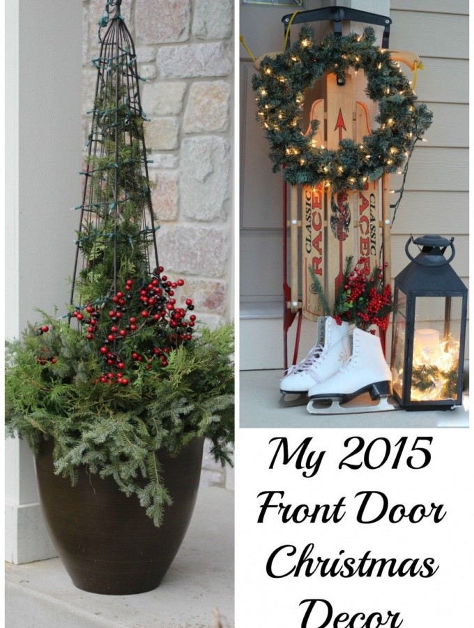 My Front Door at Christmas!