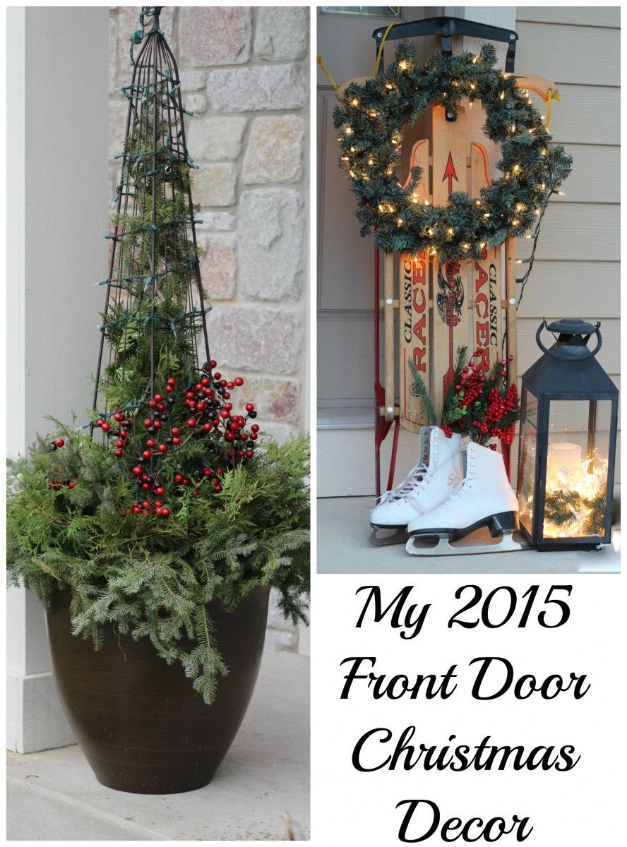 My Front Door at Christmas! - Momcrieff