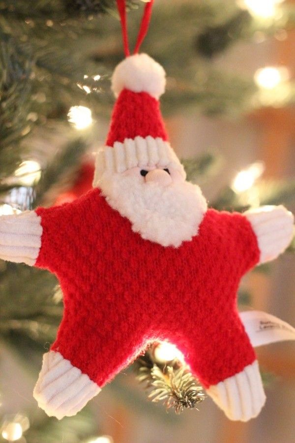 Santa star shaped ornament