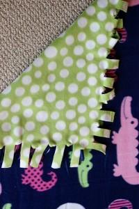 new sew fleece blanket