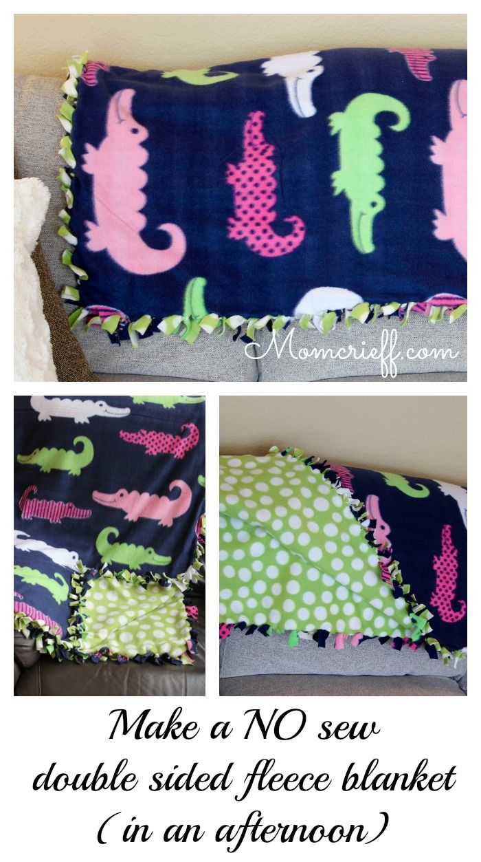 No Sew Double Sided Fleece Blanket Momcrieff
