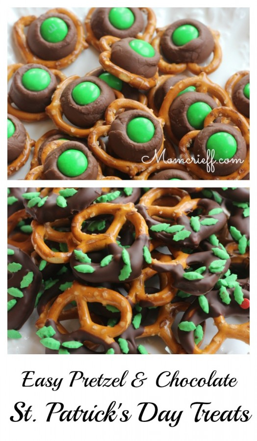 St. Patrick's Day Pretzel and Chocolate Treats