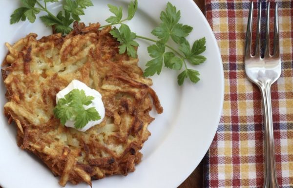 Sweet Potato Pancakes.  A different spin on potato.