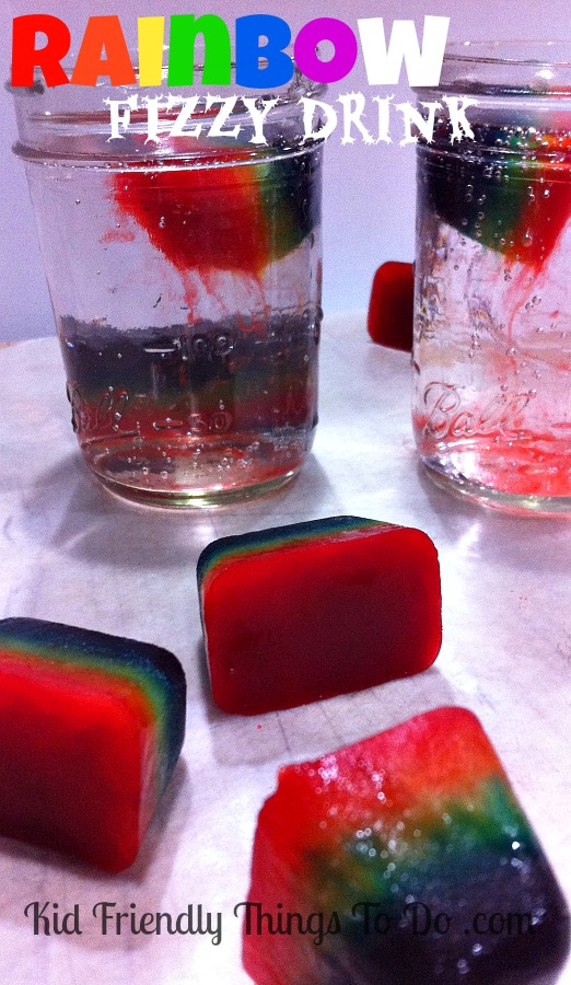 St. Patrick's Day rainbow-fizzy-drink