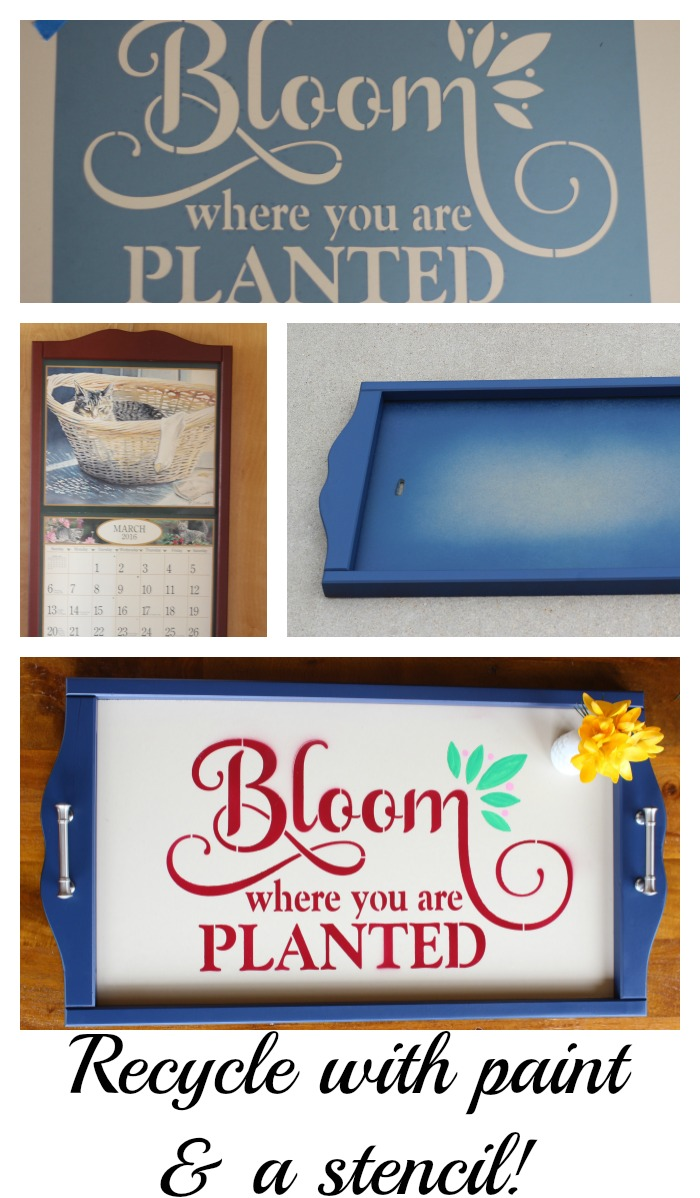 Bloom Where You Stand Tray recycle