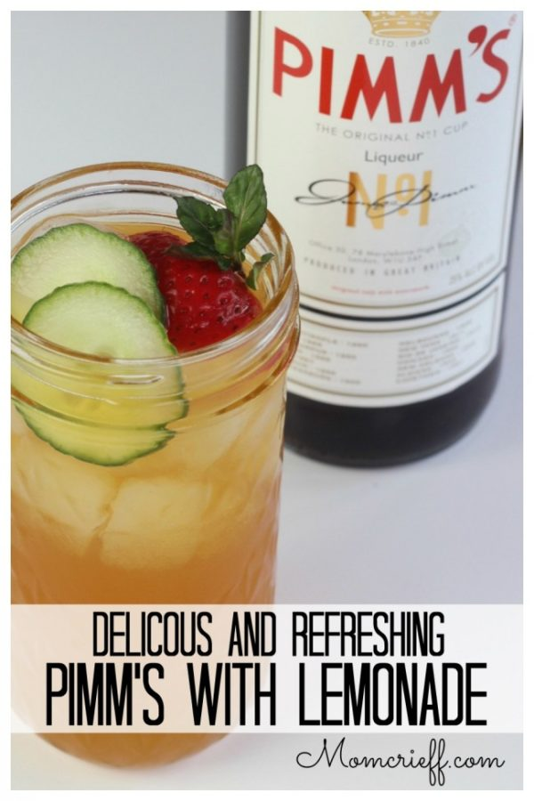 Pimm's – A refreshing summer adult beverage (from England)