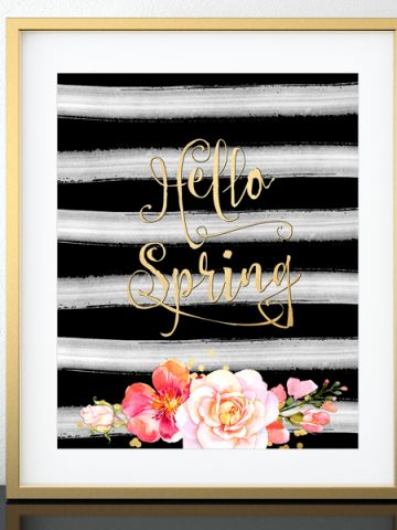 Hello Spring! A free printable celebrating spring.