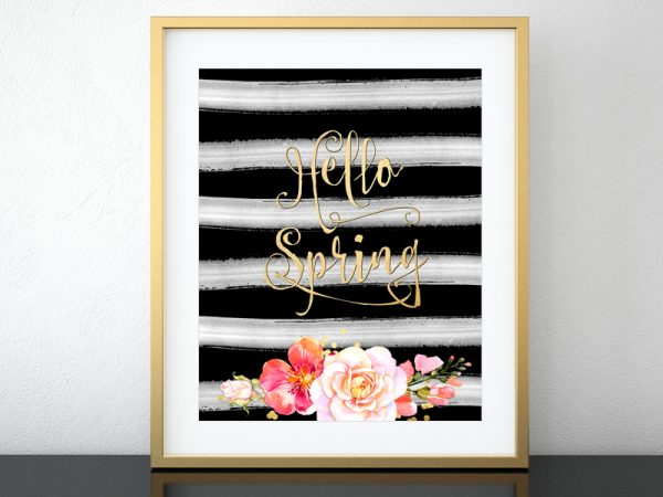 Hello Spring! A free printable celebrating spring.