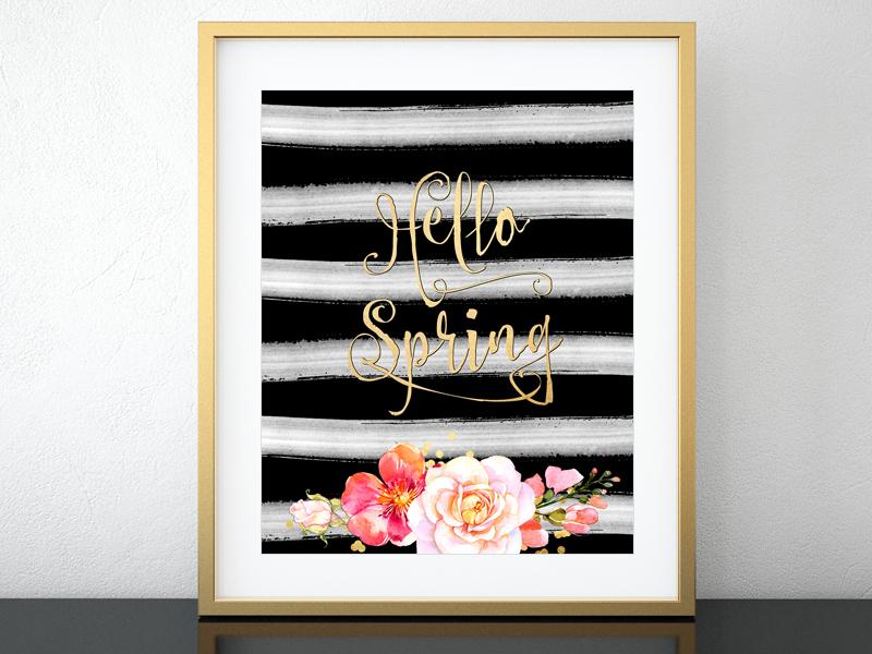 Hello spring - promo sign