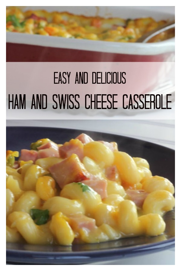 Easy Ham & Swiss Cheese Casserole