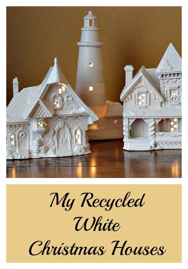 White Christmas houses – my diy