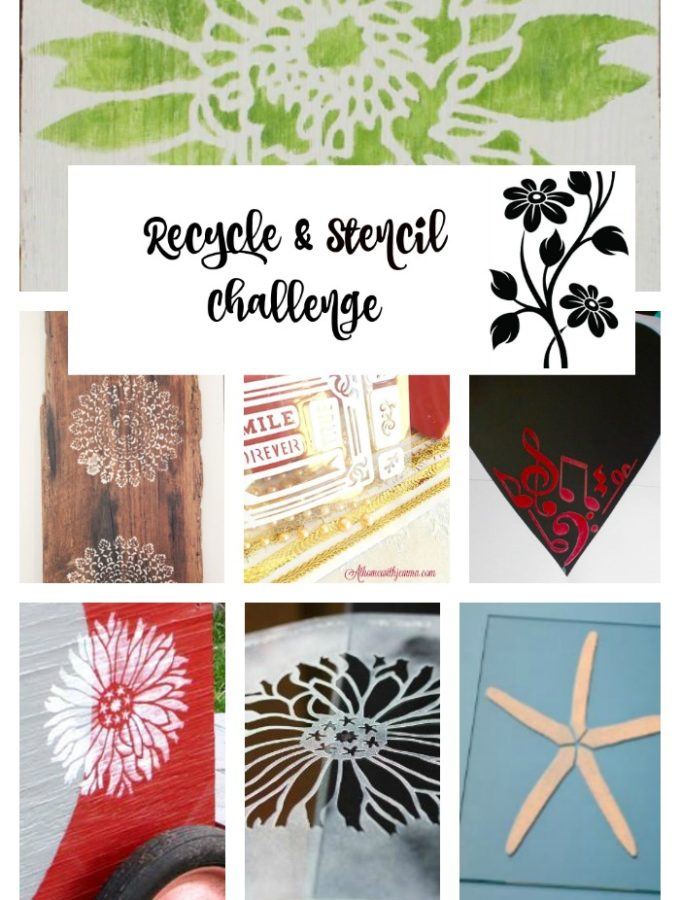 Valentine's Day Themed Mirror – A stencil challenge