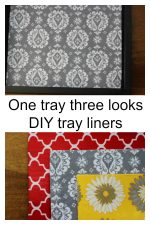 DIY tray liners to change the look of your trays.