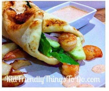 Naan Shrimp Wraps with Creamy
