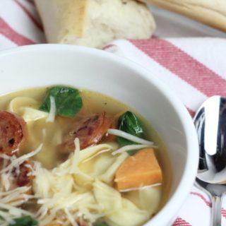 Fall Tortellini Soup with Bratwurst