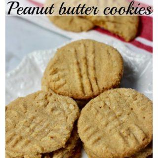 Three ingredient peanut butter cookies - gluten free!