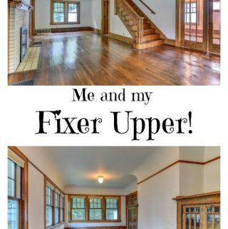 The beautiful old and original living room and sunroom. These rooms are why I fell in love with my fixer upper!