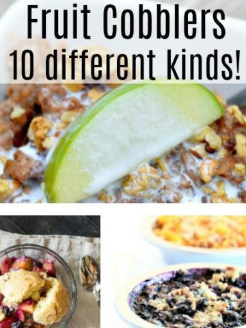 10 different cobblers. Includs peach, berries and breakfast cobblers.