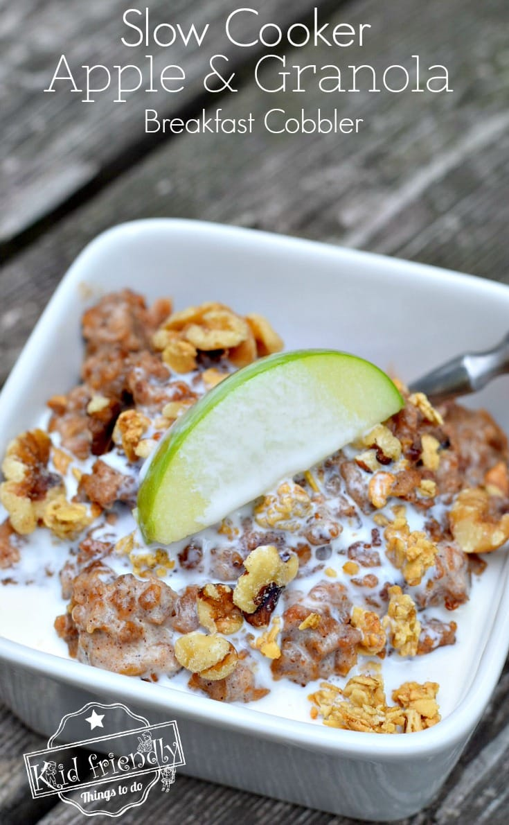 A delicious slow cooker meal with apple and granola.