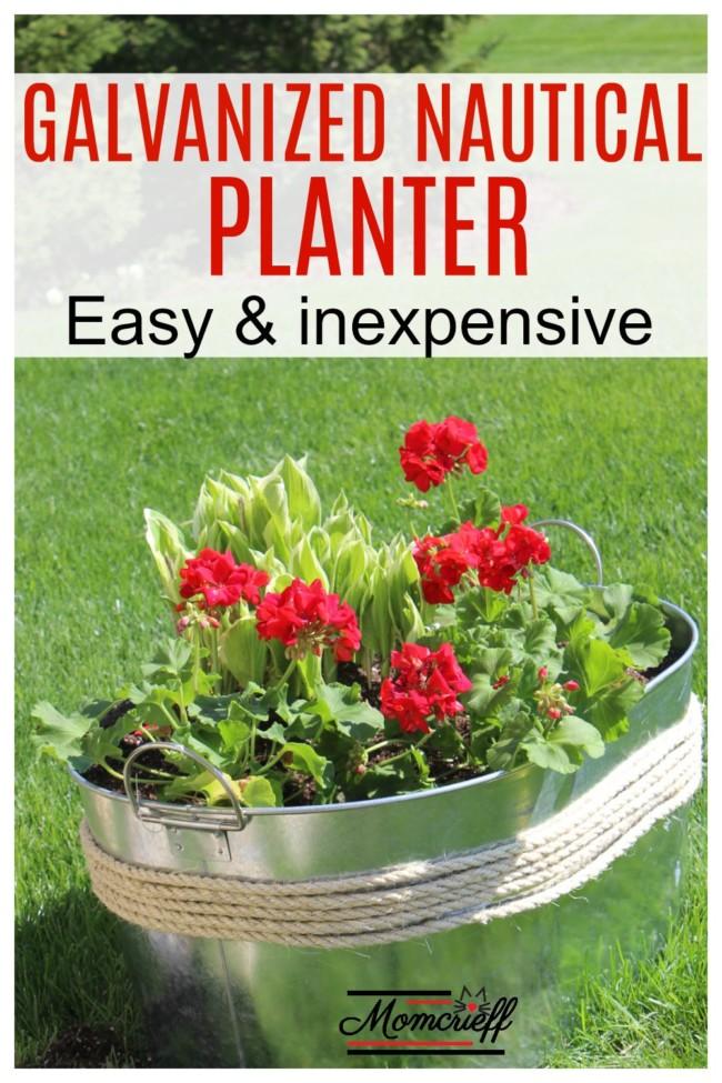 Make A Unique Flower Planter Container Idea Inexpensive Too Momcrieff