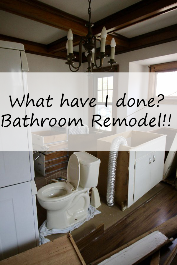 What have I done?  Bathroom Remodel!!