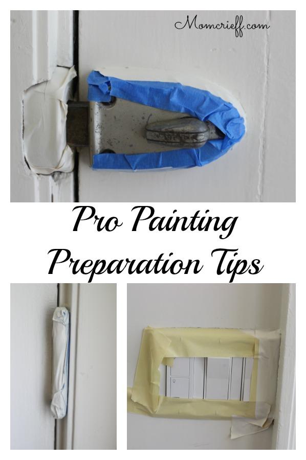 painter's tap around locks and light switches