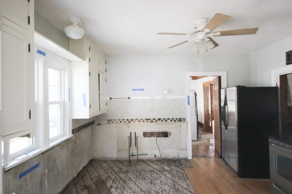 My kitchen remodel.  I bought a house without a kitchen.