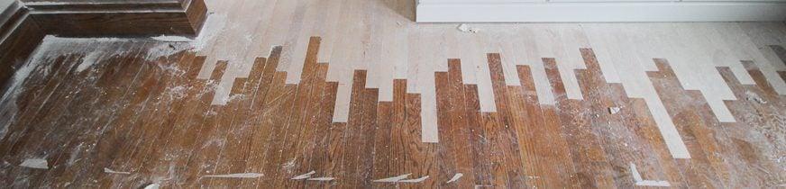 New oak floors feathered into old oak floors.