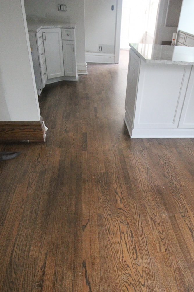 Old and new floors freshly refinished and matching perfectly.
