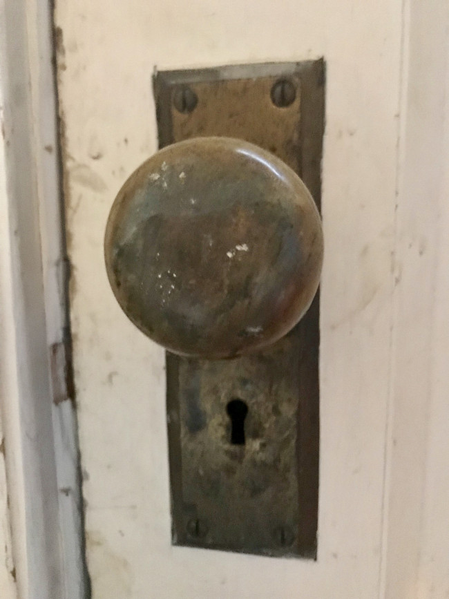 Old fashioned lock that uses a skeleton key.