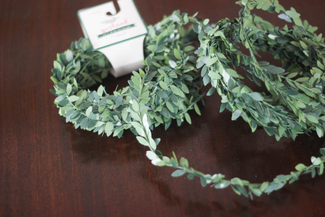 Christmas boxwood garland
