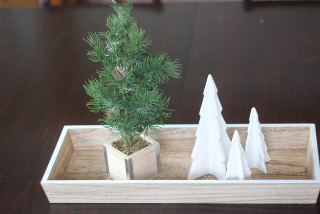 Cute inexpensive Christmas Tray