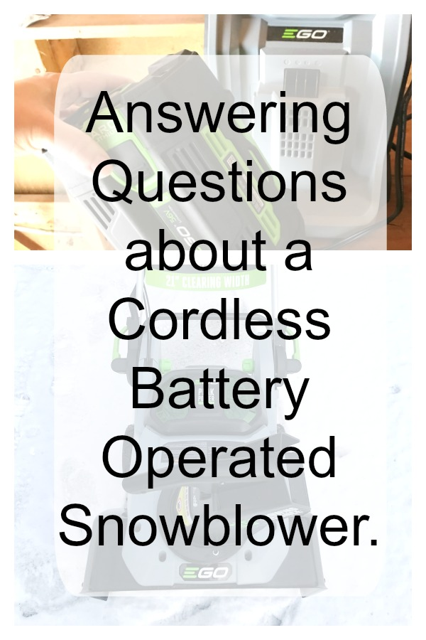 Answering questions about a battery operated snowblower.