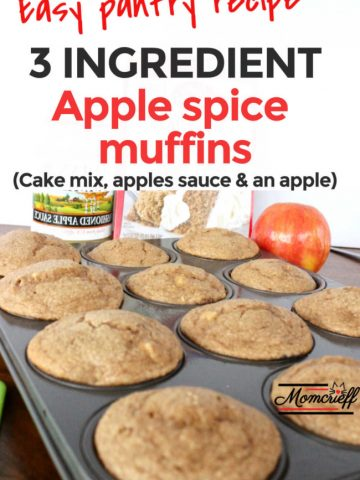 muffin pan of three ingredient apple spice muffins