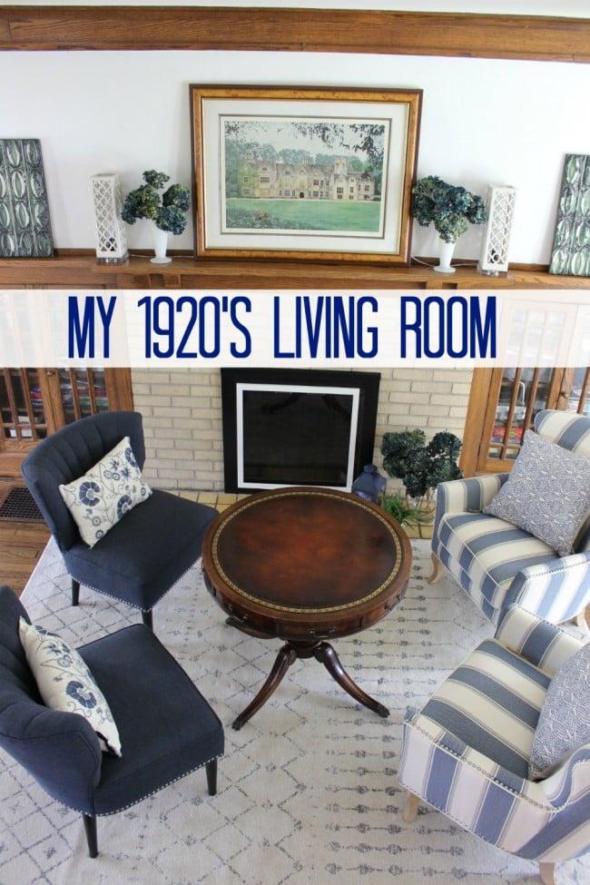 My 1920\'s Blue Living Room - Momcrieff