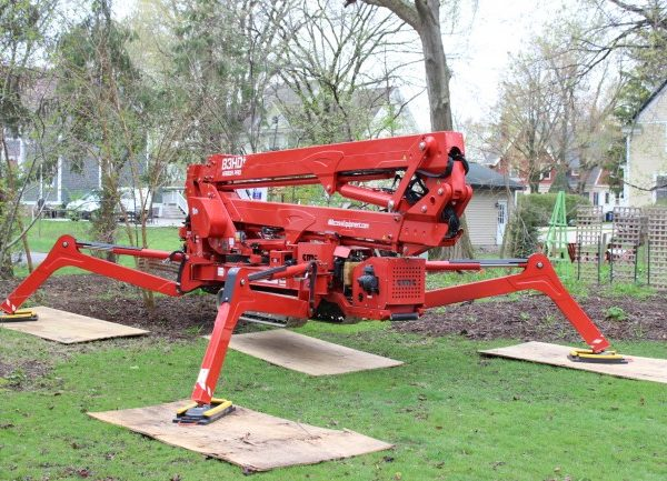 A piece of equipment used to lift arborist to tall trees