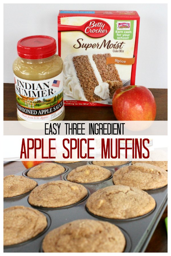a muffin tin of apple spice muffins