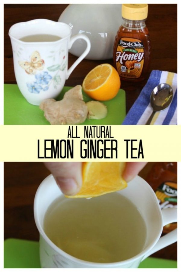 Ginger Lemon Tea with Honey – all natural and delicious.