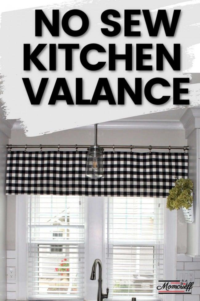 Don T Sew Easy Valance Curtain Ideas