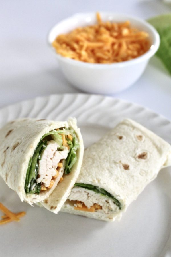 roasted chicken caesar salad wrap