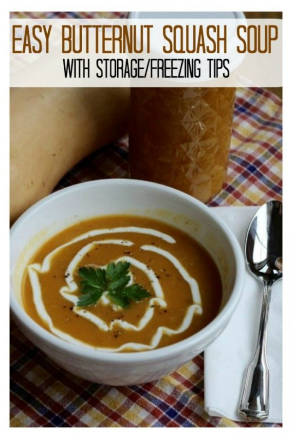 Easy Butternut Squash with Leek Soup – storage tips