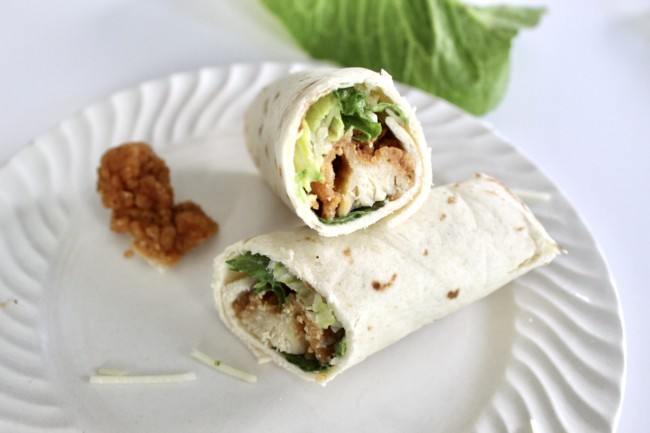 Six Caesar Salad Wraps Chicken Vegetarian Options Momcrieff